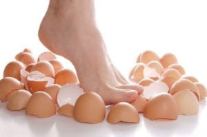 the walk on eggshells around an emotional abuser